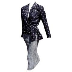 """Giorgio ARMANI """"New"""" Haute Couture Gray Organza Silk Linen Dress - Unworn"""