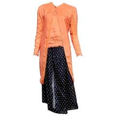 """Giorgio ARMANI """"New"""" Haute Couture Silk Linen Ensemble Dress - Unworn"""