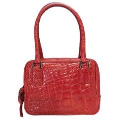 Giorgio Armani Red Crocodile small Handbag