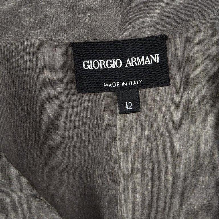 0fbc69958c9b78 Giorgio Armani Silver Gunmetal Avant Garde Sleeveless Top M For Sale ...