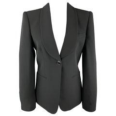 GIORGIO ARMANI Size M Black Shawl Collar Blazer