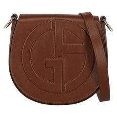 Giorgio Armani Woman Shoulder bag  Brown Leather