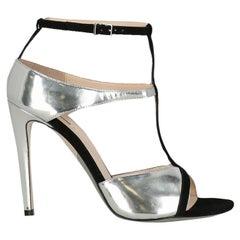 Giorgio Armani  Women   Sandals  Black, Silver Leather EU 39
