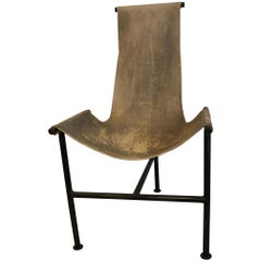Giorgio Belloli Leather and Iron Sling Chair