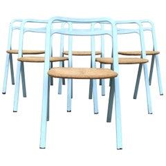 Giorgio Cattelean Midcentury Clio Foldable Dining Chairs for Cidue Italia, 1979