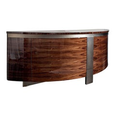'Giorgio Collection' Brazilian Rosewood Curve High Gloss Buffet Sideboard