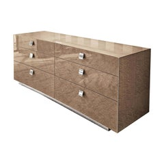 Giorgio Collection Bird's-Eye Maple Wood Dresser in High Gloss Finish