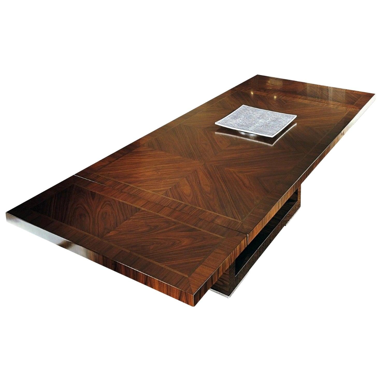 Giorgio Collection Brazilian Rosewood Dining Table in Satin Finish