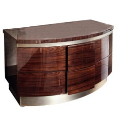 Giorgio Collection Brazilian Rosewood Night Table in High Gloss Finish