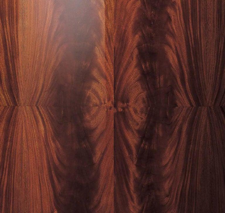Italian Giorgio Collection Crotch Mahogany High Gloss Night Table For Sale