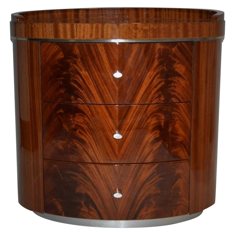Giorgio Collection Crotch Mahogany High Gloss Night Table