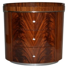 Giorgio Collection Crotch Mahogany High Gloss Night Table