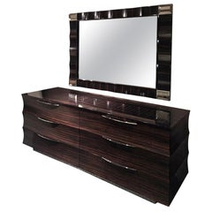Giorgio Collection Ebony Macassar Dresser in Satin Finish