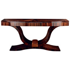 'Giorgio Collection' Ebony Macassar Wood High Gloss Italian Console Table