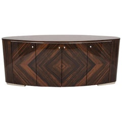 Giorgio Collection Ebony Makassar Buffet Side Board in High Gloss Finish
