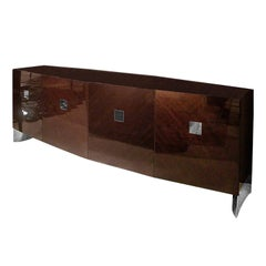 Giorgio Collection Eucalyptus Wood Buffet Side Board in High Gloss Finish
