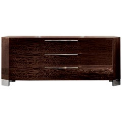 Giorgio Collection European Curly Eucalyptus Dresser in High Gloss Finish