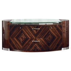 Giorgio Collection Office Ebony Makassar Credenza