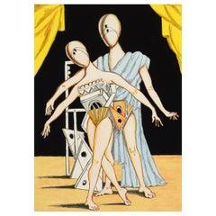 Giorgio de Chirico 'I Ballerini', 1970