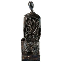 "Giorgio de Chirico, ""L'Archeologo,"" Bronze Sculpture, Italy, 1971"
