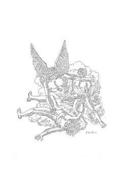 Apocalypse of John the Evangelis - Original Etching by Giorgio De Chirico - 1941