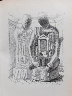 Le Mystère Laic - Rare Book Illustrated by Giorgio De Chirico - 1928