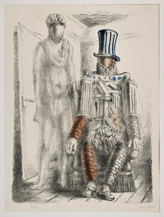 Le Retour du Fils Prodigue I - Original Lihtograph by G. De Chirico - 1929