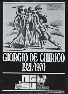 Poster Giorgio De Chirico Exhibition - Original Offset after G. De Chirico- 1973