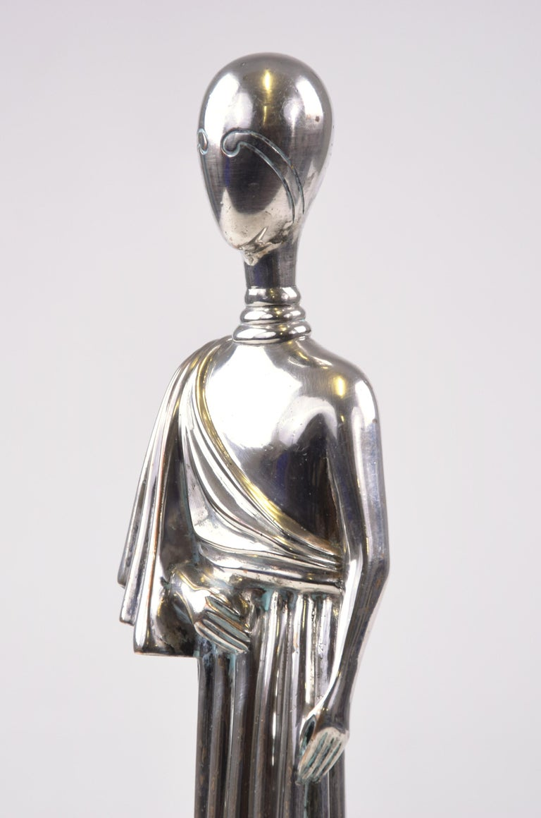 The Muse - Silvered Brass Sculpture by Giorgio De Chirico  For Sale 2