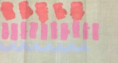 Tre Segni - Original Acrylic Paint by Giorgio Griffa - 1979