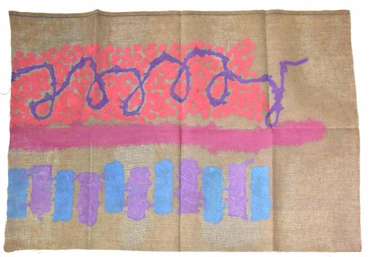 Untitled - Original Acrylic on Fabric by G. Griffa - 1989 - Painting by Giorgio Griffa
