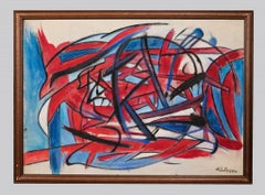 Abstract Expression - Original oil and oil pastel by Giorgio Lo Fermo - 2019