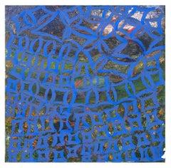 Blue Reticulum - Original Oil Paint by Giorgio Lo Fermo - 2019