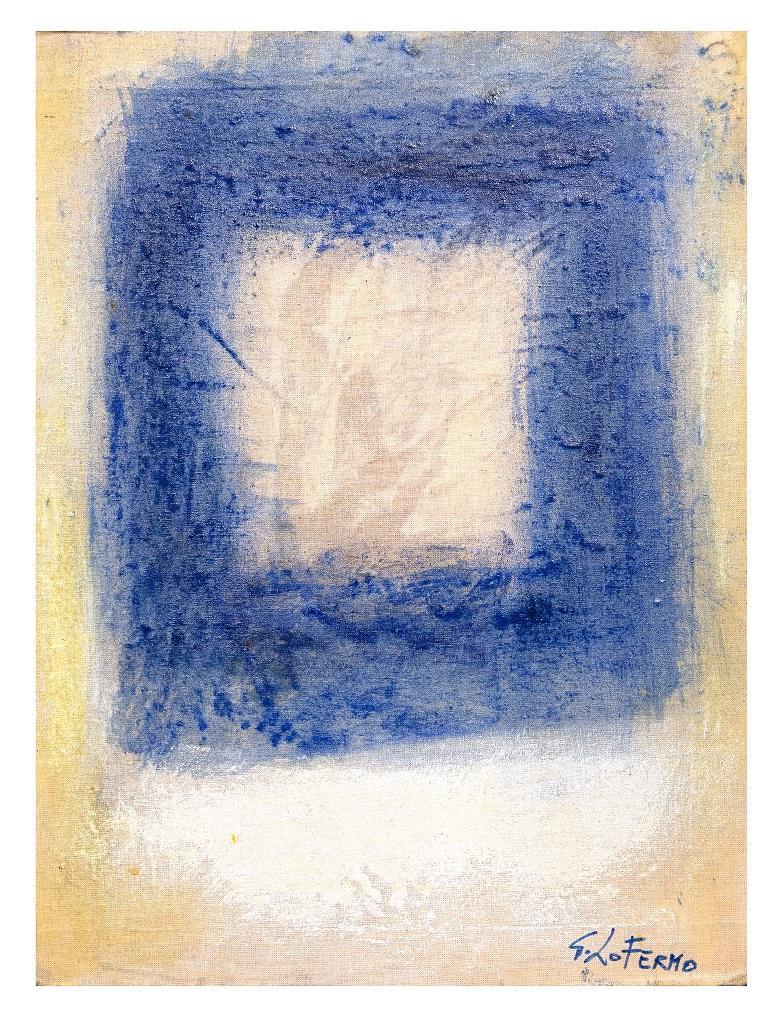 Blue Square - Original Oil Paint by Giorgio Lo Fermo - 2015