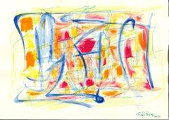 Colored Composition - Tempera and Watercolor by Giorgio Lo Fermo - 2020