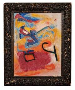 Composition - Original Oil Paint by Giorgio Lo Fermo - 2010s