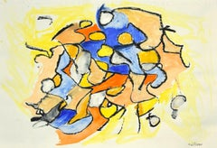 Geometrical Abstract Composition - Mixed Media on Paper by G. Lo Fermo - 2020