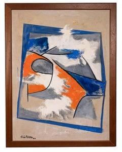 Geometrical Composition - Original Oil Paint by Giorgio Lo Fermo - 2010