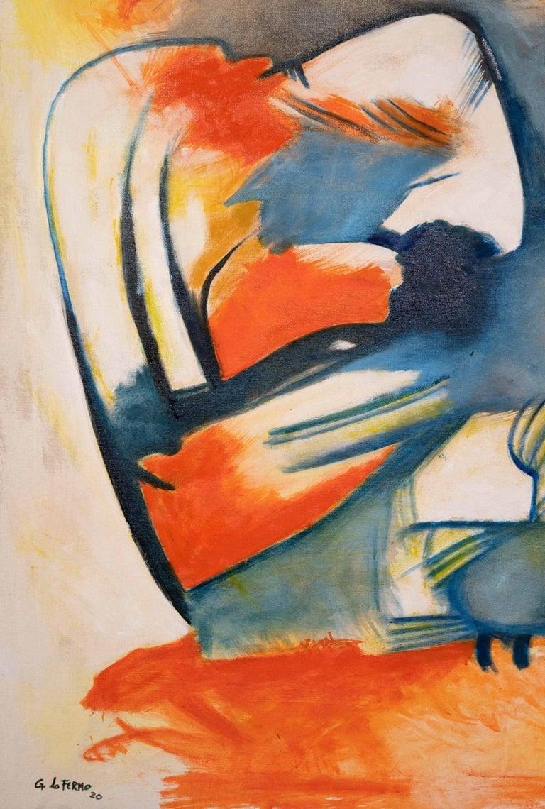 Informal - Original Oil Paint by Giorgio Lo Fermo - 2020 For Sale 1