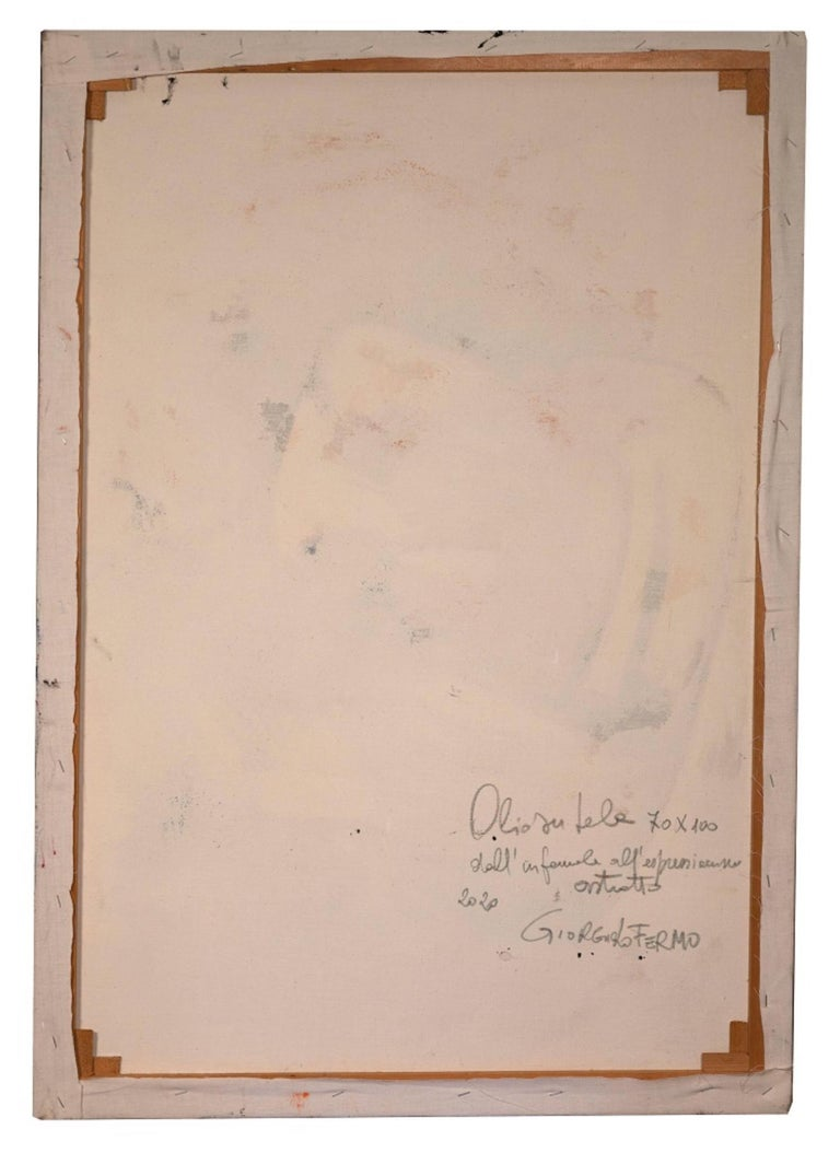 Informal - Original Oil Paint by Giorgio Lo Fermo - 2020 For Sale 2
