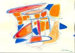 Mixed Colors Composition - Original Mixed Media by Giorgio Lo Fermo - 2020