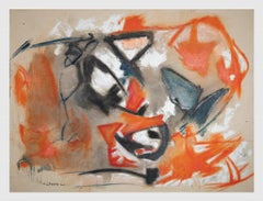 Orange and Black - Original Oil On Canvas by Giorgio Lo Fermo - 2021