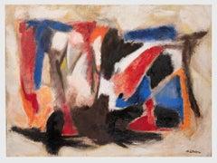 Orange and Blue - Original Oil Paint by Giorgio Lo Fermo - 2010