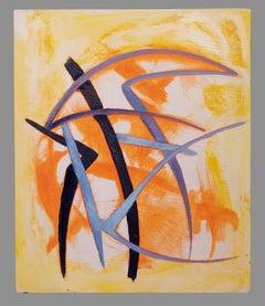 Orange and Violet - Original Oil paint by Giorgio Lo Fermo - 2020