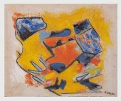 Orange and Yellow - Original Oil Paint by Giorgio Lo Fermo - 2020