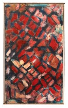Red Reticulum - Original Oil Paint by Giorgio Lo Fermo - 2012