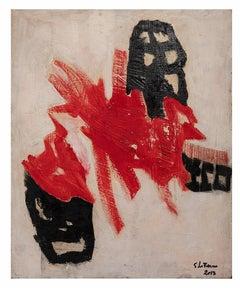 Red Shape - Original Oil Paint by Giorgio Lo Fermo - 2013
