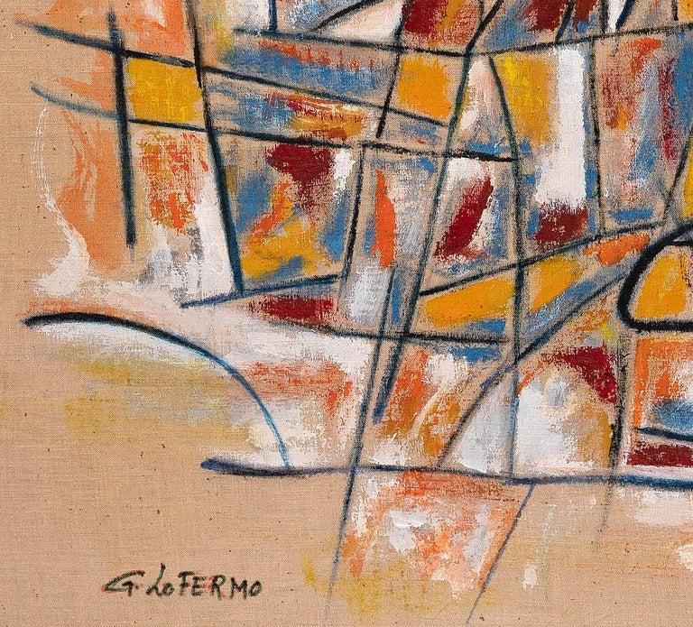 Reticulum - Original Oil Paint by Giorgio Lo Fermo - 2020 For Sale 1