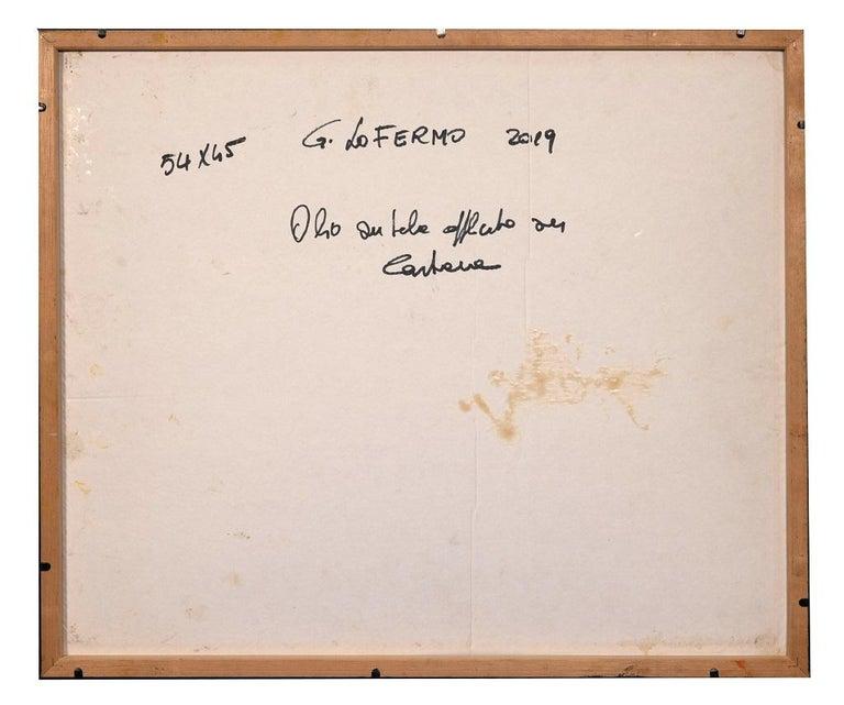 Reticulum - Original Oil Paint by Giorgio Lo Fermo - 2020 For Sale 2