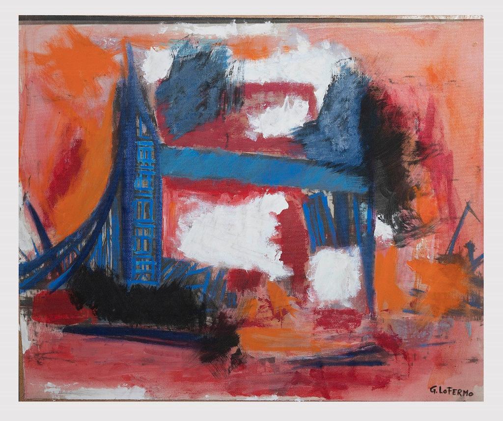 The Bridge - Original Oil On Canvas by Giorgio Lo Fermo - 2008